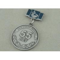 Wholesale Zinc Alloy 3D Antique Silver Custom Awards Medals With Imitation Hard Enamel from china suppliers