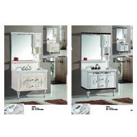 Quality Classic Square PVC Vanity Cabinets Soft Close Door Modern Bathroom Vanity Sets for sale