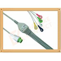 Wholesale DLanet 50 LT 12 Pin  5 Lead Ecg Cable Snap IEC Flexibility And Durability from china suppliers