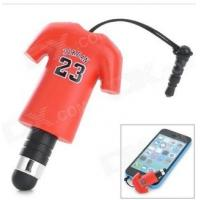 Wholesale Jordon NO.23 Sport T Shirt Dust-Proof Plug Touch Screen Stylus Pen For Iphone Ipad from china suppliers