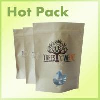 Wholesale Trees Weeat Stand Up Kraft Paper Zipper Bag With Customized Window from china suppliers