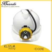 Buy cheap 10.4Ah super long working time 18h underground coal miners equipment wire cap lamp KL12LM from wholesalers