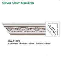 Wholesale 2400mm White Polyurethane foam cornice PU ceiling corner moulding from china suppliers