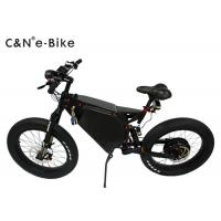 Wholesale Big Wheel Electric Fat Tire Mountain Bike , High Speed Fat Tire Electric Bicycles from china suppliers
