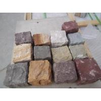 Wholesale Multiple Color Sandstone Cobblestone Paving from china suppliers