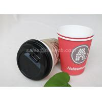 Wholesale Disposable Food Grade Single Wall Paper Cups PE Coated With Lids For Coffee / Tea from china suppliers