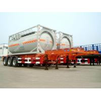 China Tri Axle 20ft  ISO Tank Container Transport Skeletal Chassis Semi Trailer on sale
