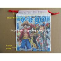 Buy cheap Custom Printed Drawstring Plastic Bags / Double Drawstring Bag OEM from wholesalers