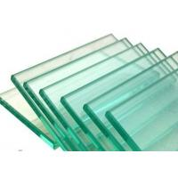 Wholesale 3mm / 4mm Clear Float Flat Tempered Glass / Toughened Glass For Cabinet , Solid Structure from china suppliers