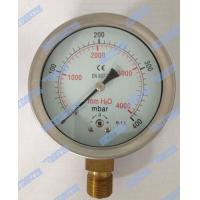 Wholesale 100mm Bottom Capsule Pressure Gauge With Brass Diaphragm Sealing - 16mpa - 0 - 600mpa from china suppliers