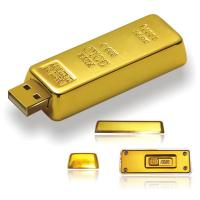 Wholesale 1GB 2GB 4GB 8GB 16GB golden bar shape metal USB memory flash drive with custom logo (MY-UME30) from china suppliers