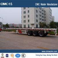 Wholesale 40 foot container price multi axel trailer cargo ship 50 ton flatbed trailer from china suppliers