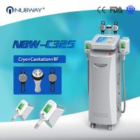 Quality Cryo +RF+ cavitation in one 5 handles Cryo fat freezing machine for Europe for sale