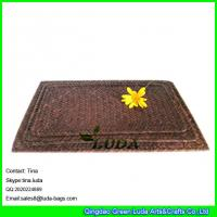 Wholesale LUDA rectangular shape straw placemats set of 2 seagrass straw colored table mat from china suppliers