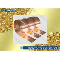 Wholesale C1100 C1220 C1020 Decorative Copper Sheet Roll For Electronic Industry from china suppliers