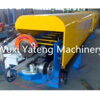 Wholesale PPGI Material Gutter Roll Forming Machine Adjustable High Speed Chain Drive from china suppliers