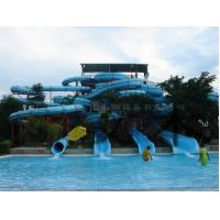 Wholesale Custom 4 Lines Open Spiral Slide Aquasplash Children Water Slides from china suppliers