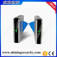 Buy cheap rfic card reader led light flap barrier gates security system from wholesalers