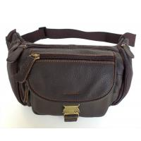Wholesale Fashion Unique Style Real Leather Men's Shoulder Bag Purse Waist Pack #6102 from china suppliers