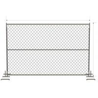 "Quality 6ft x 12ft/ 72inch x 120inch chain link temporary fencing  2"" x 2"" x 11 gauge wire chain mesh temp construction fence for sale"