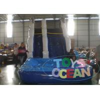 Wholesale 7x4x5m PVC Blue Inflatable Water Slide With Small Pool For Rental from china suppliers