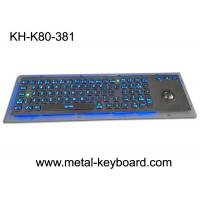 Wholesale Rugged Backlit Metal Keyboard with Ergonomics Design Trackbal , USB interface from china suppliers