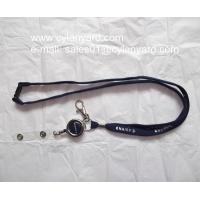retractable reel tubular lanyard with plastic strap
