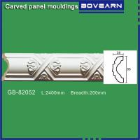 Buy cheap Polyurethane Carved wall mouldings/ chair rails/ white primed color customized OEM accepted from wholesalers