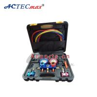 China Auto Air Condition Tool manifold gauge set r134a , refrigeration pressure gauge on sale