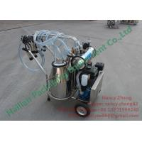 Wholesale Two Inox Buckets Gasoline Vacuum Milking Equipment for Dairy Cattles Milking from china suppliers