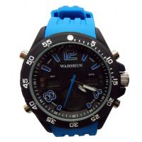 Wholesale Japan AL35 Quartz Mens Sport Watches / Adult 3ATM Waterproof Silicone Strap from china suppliers