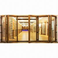 Buy cheap Folding Door with Single/Double/Art Glass/Aluminum Material/Perfect Performance/Luxurious Decorative from wholesalers