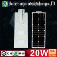 Wholesale Intelligent High Power 20w Solar LED Street Lights With PIR Sensor Light Control from china suppliers