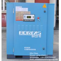 Quality 3 Phase 50hz 22kw 10 Bar 30 Hp Belt Screw Drive Air Compressor Single Stage for sale