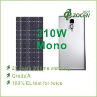 Wholesale Single Crystalline Solar Panel , 310W Anti Reflective Glass Laminated from china suppliers