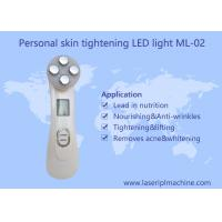 Wholesale Mini home use facial beauty device 6 color ultrasonic led lights photon face massager from china suppliers