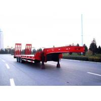 Wholesale Low Bed Semi Trailer Truck 3 Axles 80 Tons 17m for Loading Construction Machine from china suppliers