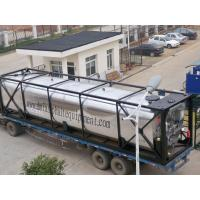 China Standard 40FT Bitumen Heating Tank Heavy Oil Asphalt Storage Tank Container on sale