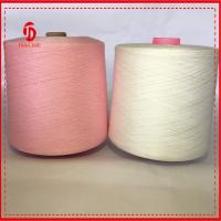 Wholesale 100% Virgin Dyed Polyester Yarn 40/2  polyester ring spun yarn pink color AA Grade from china suppliers