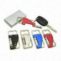 Wholesale Multifunctional bottle opener with functions of knife and LED light in gift box from china suppliers