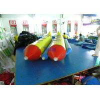 Wholesale Hot Air Welded Inflatable Banana Boat Yellow Red Durable 0.9mm PVC Tarpaulin from china suppliers