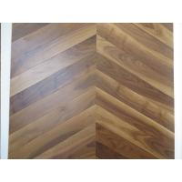 Buy cheap American walnut Chervon parquet flooring, Chervon walnut wooden floors, special 45 degree angel from wholesalers