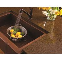 Buy cheap Artificial Quartz Slab Countertops Coffee Brown Color Kitchen Island Stone from wholesalers