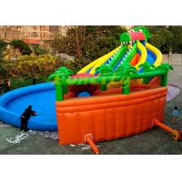 Wholesale Customized Size Kids Inflatable Giant Water Park Game On Land With Long Crocodile from china suppliers