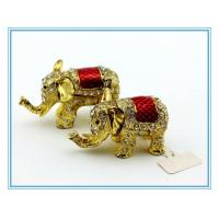 Wholesale 100% handmade enamel Elephant shape metal box for jewelry from china suppliers