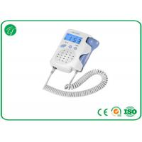 Wholesale White Pocket Fetal Doppler Machine With Crystal Clear Sound LCD Backlight from china suppliers