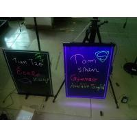Wholesale 580x420mm hanging led writing board with engraved border from china suppliers