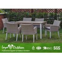 Wholesale White Extendable Dining Table Set Rattan Outdoor Patio Furniture Anti - Aging Feature from china suppliers