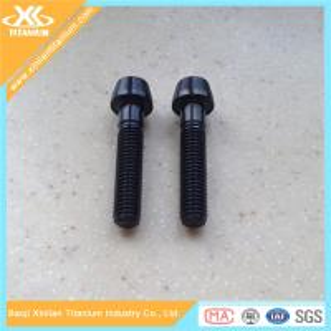 Black Nitriding Titanium Hex Socket Taper Head Bolts