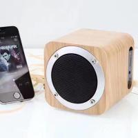 China Wooden Wireless Bluetooth Speaker HIFI Subwoofer Portable Mini Speaker Multi-function Support TF Card/AUX/FM Radio on sale